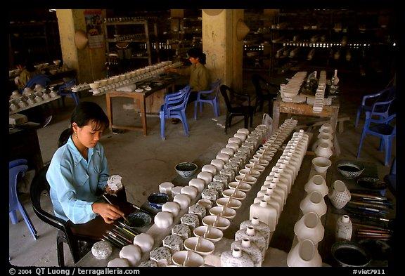 Ceramics factory, Bat Trang. Vietnam
