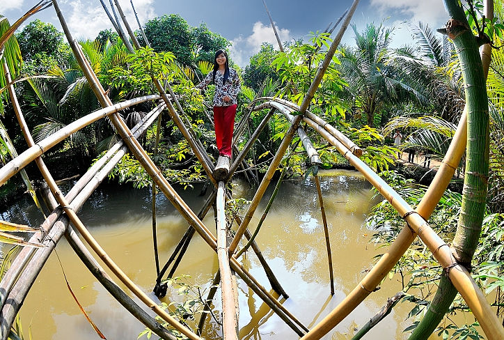 Monkey Bridge Can Tho - SAIGON MOTORBIKE TOUR TO CAN GIO AND SAC FOREST FOR 1 DAY