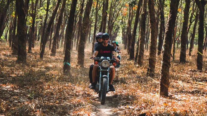 cu chi tunnel motorbike - SAIGON MOTORBIKE TOUR TO CU CHI, TRAM CHIM NATIONAL PARK FOR 2 DAYS
