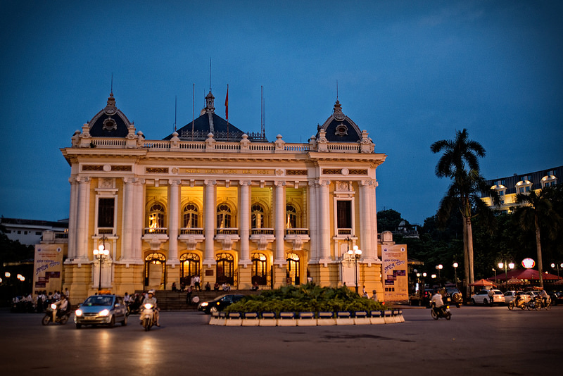Opera House Hanoi - DAYLIGHT HANOI MOTORBIKE TOUR FOR FOODS AND SIGHTSEEINGS
